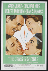 "The Grass is Greener (Universal International, 1960). One Sheet (27"" X 41""). Romantic Comedy. Starring Cary Gr..."