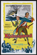 "Movie Posters:Adventure, Kidnapped (Buena Vista, 1960). One Sheet (27"" X 41""). Adventure.Starring Peter Finch, James MacArthur and Bernard Lee. Dire..."