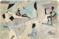 Fine Art - Painting, European:Modern  (1900 1949)  , IVAN KLIUN (Russian 1870-1942). Untitled. Watercolor onpaper. 6-1/2 x 9-3/4 inches (16.5 x 24.8 cm). Signed lower right...