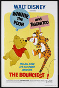 "Movie Posters:Animated, Winnie the Pooh and Tigger Too (Buena Vista, 1974). One Sheet (27"" X 41""). Animated. Starring the voices of Sebastian Cabot,..."