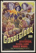 """Movie Posters:War, Corregidor (PRC, 1943). One Sheet (27"""" X 41""""). War Drama. StarringOtto Kruger, Elissa Landi and Donald Woods. Directed by W..."""