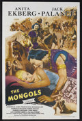"Movie Posters:Adventure, The Mongols (Colorama, 1962). One Sheet (27"" X 41""). AdventureDrama. Starring Anita Ekberg, Jack Palance, Antonella Luadi a..."