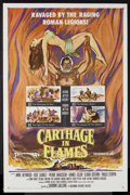 """Movie Posters:Historical Drama, Carthage in Flames (Columbia, 1960). One Sheet (27"""" X 41"""").Historical Drama. Starring Anne Heywood, Jose Suarez, Pierre Bra..."""