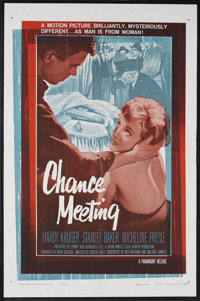 "Chance Meeting (Paramount, 1960). One Sheet (27"" X 41""). Mystery. Starring Hardy Kruger, Stanley Baker and Mic..."