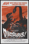 "Movie Posters:Science Fiction, Dinosaurus! (Universal, 1960). One Sheet (27"" X 41""). ScienceFiction Adventure. Starring Ward Ramsey, Kristina Hanson, Paul..."