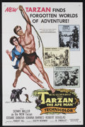 "Movie Posters:Adventure, Tarzan the Ape Man (MGM, 1959). One Sheet (27"" X 41""). Adventure.Starring Denny Miller, Cesare Danova, Joanna Barnes and Ro..."