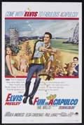 "Movie Posters:Elvis Presley, Fun in Acapulco (Paramount, 1963). One Sheet (27"" X 41""). Musical.Starring Elvis Presley, Ursula Andress, Elsa Cardenas and..."