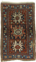 Rugs & Textiles:Carpets, An Antique Shirvan Rug. Caucasian, Circa 1900. Wool. 63 inches x41.75 inches. Woven with Lesghi design....