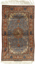 Rugs & Textiles:Carpets, An Important Isfahan Carpet. Persia, Circa 1920. Manchester wooland silk warp. 122 inches x 78 inches. Signed: SEI RA...