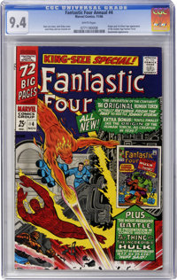 Fantastic Four Annual #4 (Marvel, 1966) CGC NM 9.4 White pages