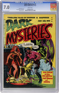 Golden Age (1938-1955):Horror, Dark Mysteries #1 (Master Publications, 1951) CGC FN/VF 7.0 Whitepages....