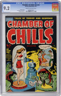 Golden Age (1938-1955):Horror, Chamber of Chills #22 (#2) (Harvey, 1951) CGC NM- 9.2 Cream tooff-white pages....