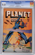 Golden Age (1938-1955):Science Fiction, Planet Comics #48 (Fiction House, 1947) CGC VF 8.0 Off-white pages....