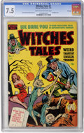 Golden Age (1938-1955):Horror, Witches Tales #1 File Copy (Harvey, 1951) CGC VF- 7.5 Light tan tooff-white pages....