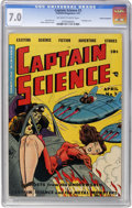 Golden Age (1938-1955):Science Fiction, Captain Science #3 Cosmic Aeroplane pedigree (Youthful Magazines,1951) CGC FN/VF 7.0 Off-white to white pages....