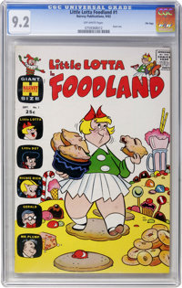 Little Lotta Foodland #1 File Copy (Harvey, 1963) CGC NM- 9.2 Off-white pages