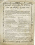 Political:Posters & Broadsides (1896-present), 1864-Dated Anti-Copperhead Horatio Seymour Political Broadside. We have never seen this distinctive item before. It compares...