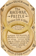 Political:3D & Other Display (1896-present), The Race War Puzzle Gold Silver Issue Game. This early game was issued in Canada as a commentary on the issues relating to t...