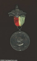 "1901 Calgary Silver Indian Peace Medal Issued for the ""Assembly of North American Indians."" According to the b..."