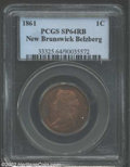 Canada:New Brunswick, New Brunswick, 1861 1 Cent SPECIMEN 64 Red and Brown PCGS. ...