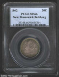 Canada:New Brunswick, New Brunswick, 1862 20 Cent MS66 PCGS. Gorgeous rose-gray ...
