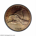 Flying Eagle Cents: , 1858 1C Large Letters MS67 PCGS. The Philadelphia Mint ...