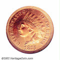 Proof Indian Cents: , 1875 1C PR65 Red NGC. The otherwise orange-red color ...