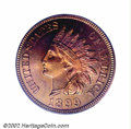 Proof Indian Cents: , 1899 1C PR66 Red PCGS. Eagle Eye Photo Seal. There are ...