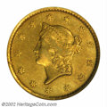 Gold Dollars: , 1849-C $1 Open Wreath Fine 15 NGC. Ex: Elrod. Winter 1-A....