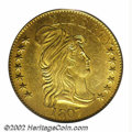 Early Half Eagles: , 1807 $5 Bust Right MS61 PCGS. Small Date, Small Obverse ...