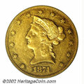 Liberty Eagles: , 1874-CC $10 AU53 PCGS. Winter 1-A, the only known dies. ...