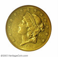 Liberty Double Eagles: , 1861-O $20 AU58 PCGS. An extremely popular issue among ...