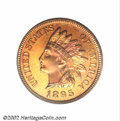 Proof Indian Cents, 1895 1C PR65 Red PCGS. Snow-1. The last three digits of ...