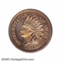 Proof Indian Cents: , 1861 1C PR64 PCGS. Eagle Eye Photo Seal. A well struck ...