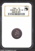 Proof Indian Cents: , 1864 1C Bronze PR65 Red and Brown NGC. Eagle Eye Photo ...