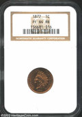 Proof Indian Cents: , 1872 1C PR64 Red and Brown NGC. Mostly red on the obverse ...