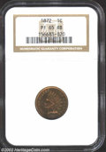 Proof Indian Cents: , 1872 1C PR65 Red and Brown NGC. Evenly and naturally ...