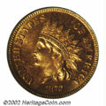 Proof Indian Cents: , 1872 1C PR65 Red PCGS. Struck from an intermediate die ...