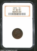 Proof Indian Cents: , 1875 1C PR66 Red and Brown NGC. Formerly offered as lot ...