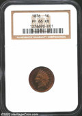 Proof Indian Cents: , 1876 1C PR66 Red and Brown NGC. The obverse has radiant ...