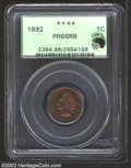 Proof Indian Cents: , 1892 1C PR66 Red and Brown PCGS. Eagle Eye Photo Seal. ...