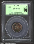 Proof Indian Cents: , 1898 1C PR65 Red PCGS. Eagle Eye Photo Seal. The obverse ...
