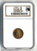 Proof Indian Cents: , 1902 1C PR66 Red and Brown NGC. Eagle Eye Photo Seal. A ...