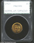 Proof Indian Cents: , 1903 1C PR65 Red PCGS. Fully red, and very appealing. ...