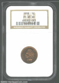 Proof Indian Cents: , 1908 1C PR65 Red NGC. Deep, rich sunset-red color with ...