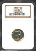 Proof Buffalo Nickels: , 1937 5C PR64 NGC. Bright and highly reflective with ...