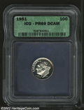 Proof Roosevelt Dimes: , 1951 10C PR69 Deep Cameo ICG. The obverse displays ...