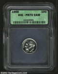 Proof Roosevelt Dimes: , 1958 10C PR70 Cameo ICG. Completely brilliant with ...
