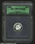 Proof Roosevelt Dimes: , 1960 10C PR70 Deep Cameo ICG. Perfectly preserved with ...