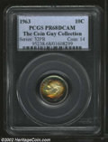 Proof Roosevelt Dimes: , 1963 10C PR68 Deep Cameo PCGS. Vibrantly toned in a ...